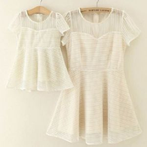 CREAM STRIPED DRESS